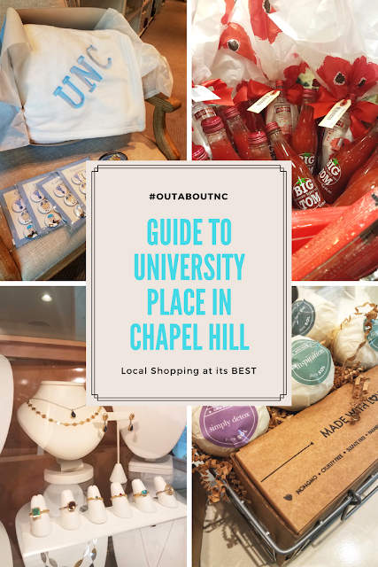 #OutaboutNC Guide to University Place in Chapel Hill, N.C. an upscale shopping and entertainment destination.