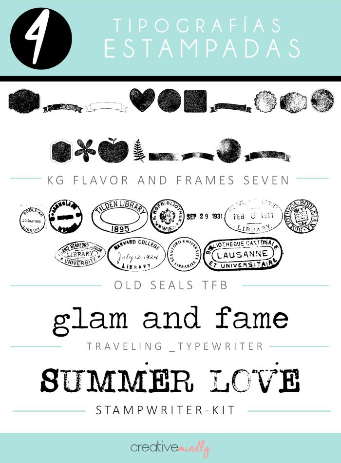 diseños estilo efecto sello stamp