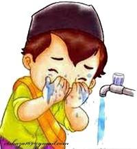 gambar doa niat wudhu