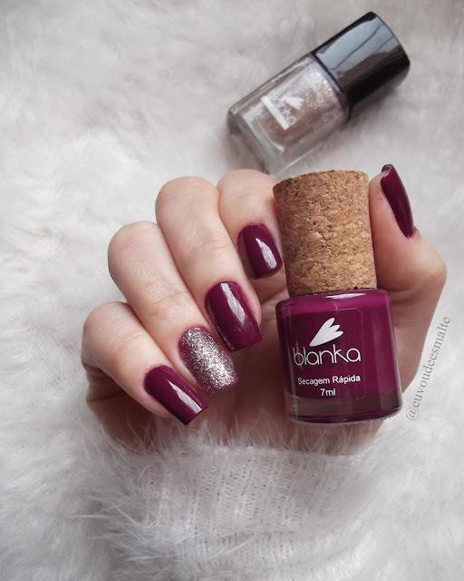 Esmalte Maliciosa + Esmalte Glitter Sophia  - Blanka Cosmético