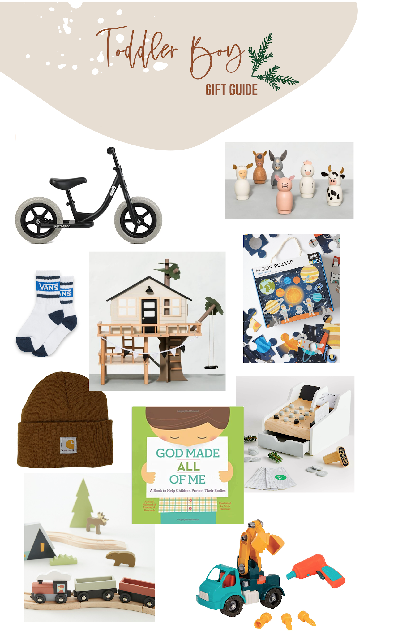 Toddler Gift Guide, Wooden Toys, Balancing Bike, Imaginative Play