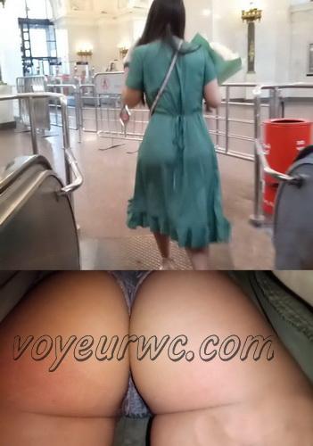 Upskirts 4510-4519 (Secretly taking an upskirt video of beautiful women on escalator)