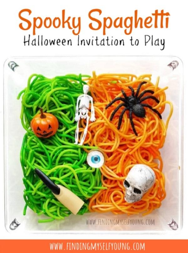 spooky spaghetti halloween invitation to play
