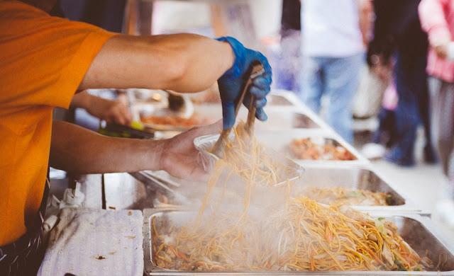 Food stall at book fair 2021