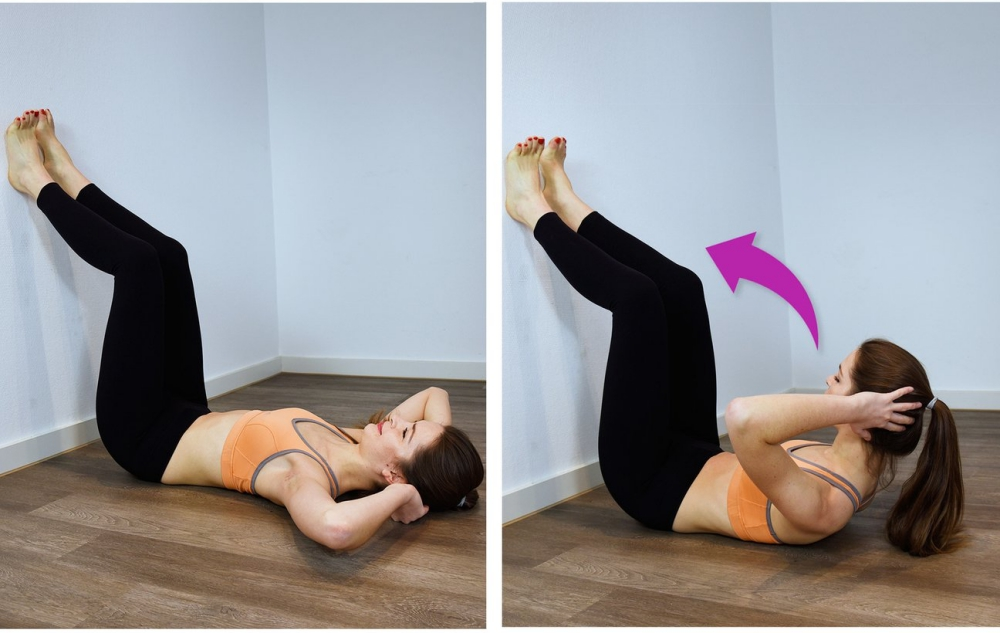 Wall Workout: Sit ups
