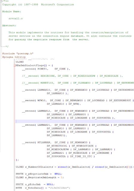 En este fichero aparece la cadena por primera vez, como parte de código oficial de Microsoft