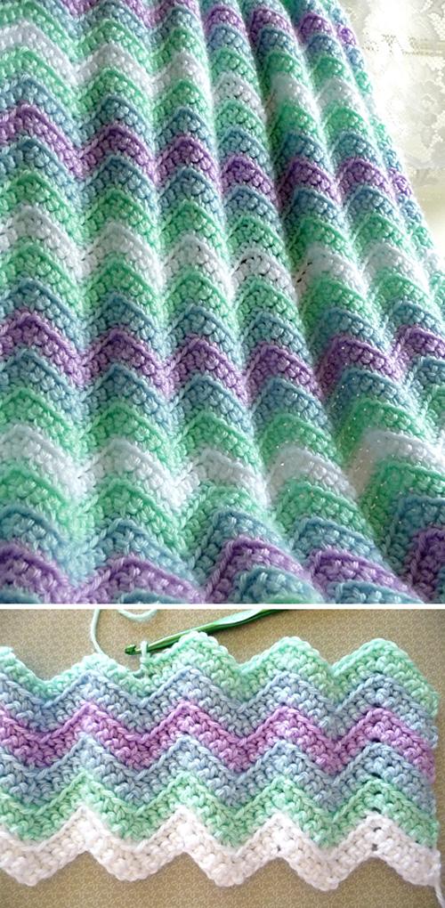 Rickrack Rainbow Baby Blanket - Free Pattern