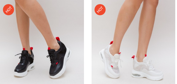 Pantofi sport femei negri, albi cu talpa groasa online