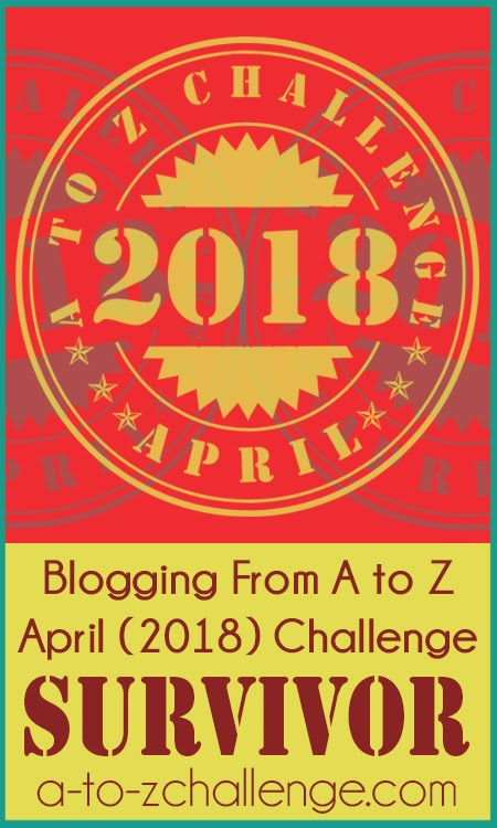 2018 A to Z Challenge Survivor