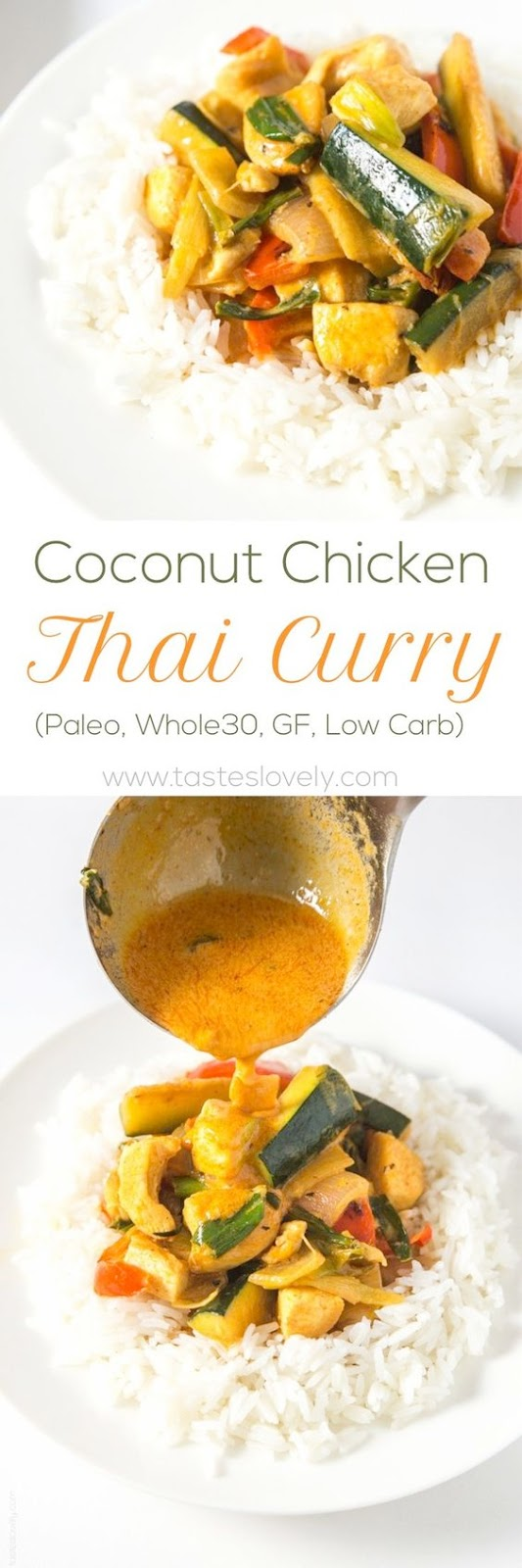 Paleo + Whole30 Coconut Chicken Thai Curry