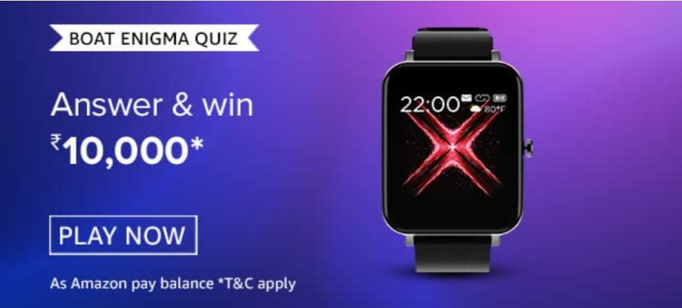 Amazon Boat Enigma Quiz Answer What Is The Screen Size Of The New Boat Watch Enigma