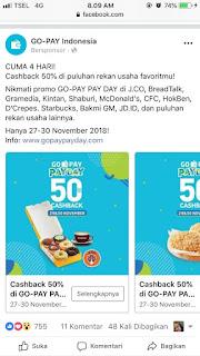 Promo discount jco menggunakan gopay
