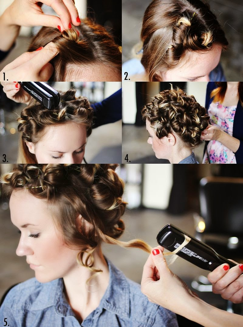 bridals & grooms styles: how can hair curl with straightener