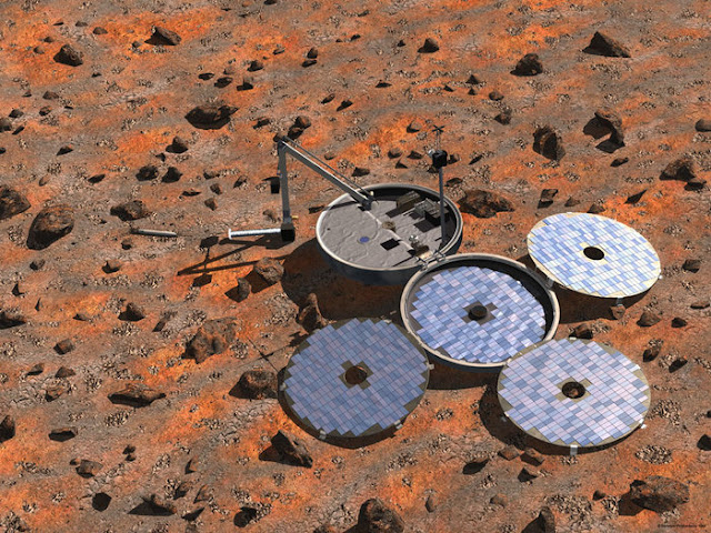 Colin Pillinger's Beagle 2 lands on Mars