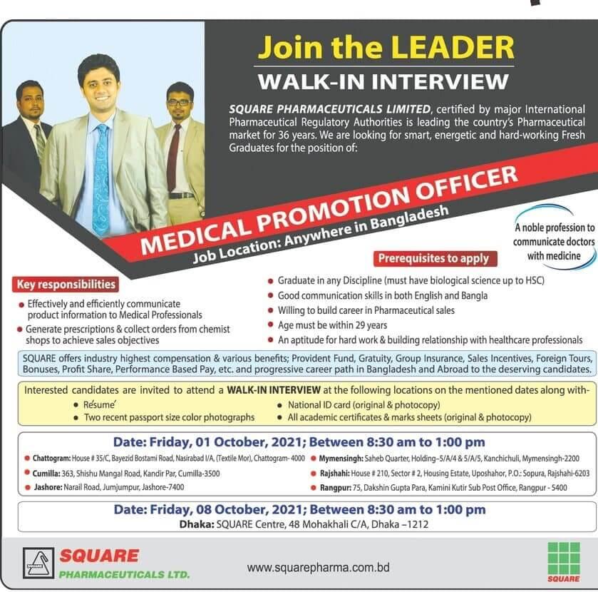 Square Pharmaceuticals Ltd Job Circular image 2021