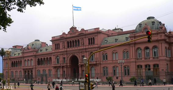 Casa rosada o casa de Gobierno en Buenos Aires