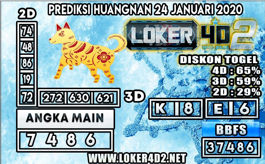 PREDIKSI TOGEL HUANGNAN LOKER4D2 24 JANUARI 2020