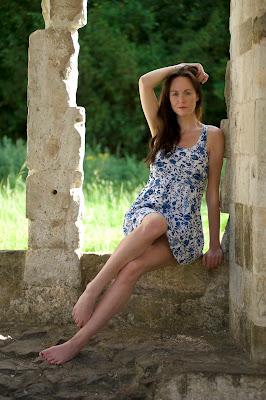 model sitting in a widow waverley abbey