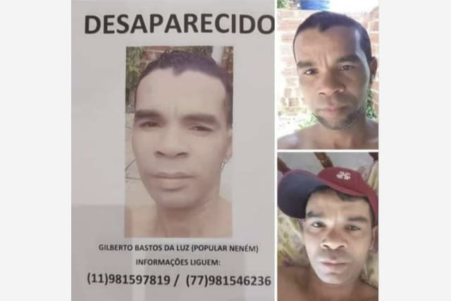 Morador de Contendas do Sincorá está desaparecido na região de Camaçari