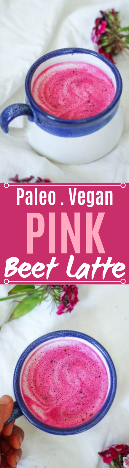 Pink Beet Latte (Paleo, Whole30, Vegan) #healthy #drinks