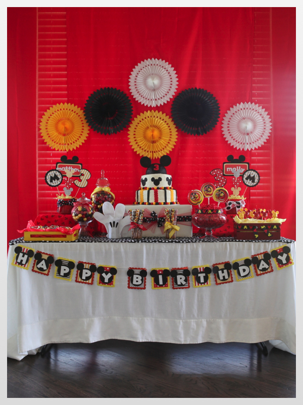 Just a Little Party     Twin Boy/Girl MICKEY  MINNIE MOUSE - mickey mouse boy birthday party ideas