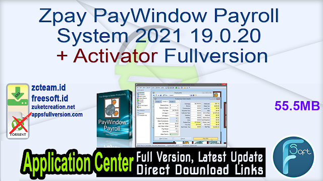 Zpay PayWindow Payroll System 2021 19.0.20 + Activator Fullversion