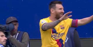 برشلونة فى صدارة الدورى الإسبانى بعد الفوز على إيبار بثلاثية