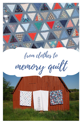 Three memory quilts for three siblings from one mother's fabric stash
