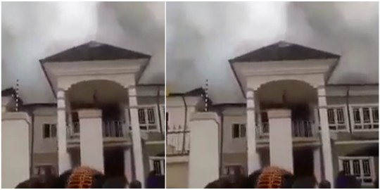 Video: Lady curses Lagos fire service for not coming to her aid two hours after she called in