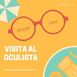 familia bilingüe hablando en ingles con hijo y bebé