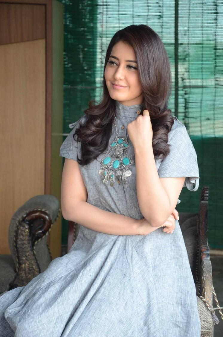 Hot Photos Of Rashi Khanna In Blue Dress