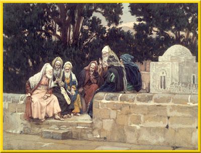 """The Pharisees and the Herodians Conspire Against Jesus"" -- by James Tissot- PD-1923"