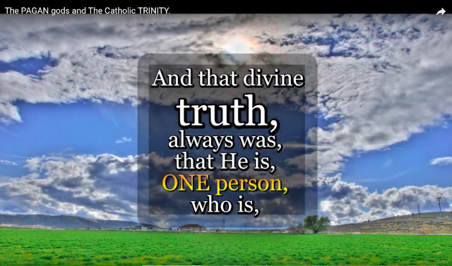 And that divine truth, always was, that He is, ONE person, who is, THE ONLY ONE, who is, THE TRUE GOD.