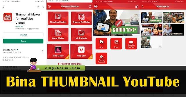 Tarik View Youtube Dengan Thumbnail Menarik. Cuba Apps Ini!