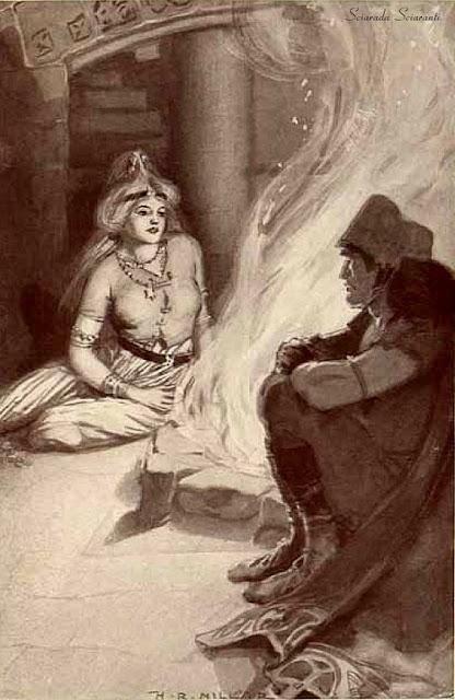 Kian trova la figlia di Balor - Illustrazione di Harold Robert Millar per Celtic myth and legend poetry and romance - Charles Squire - 1910