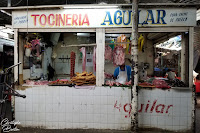 Boucherie, tocineria, Central de Abasatos, Oaxaca, Mexique