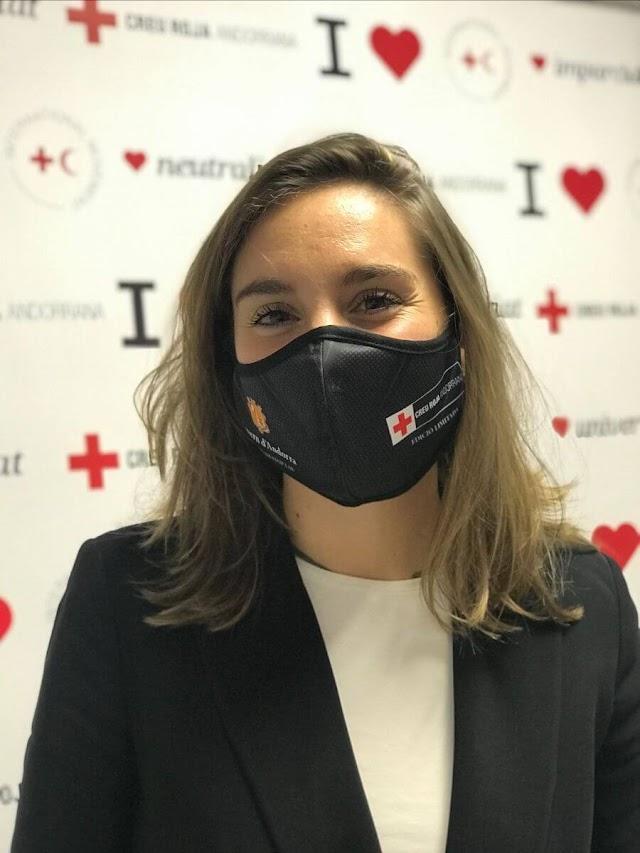 Margot Llobera se convierte en embajadora de buena voluntad de la Cruz Roja Andorrana