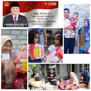 Jaga Gizi Balita, HBK Salurkan Bantuan MP ASI