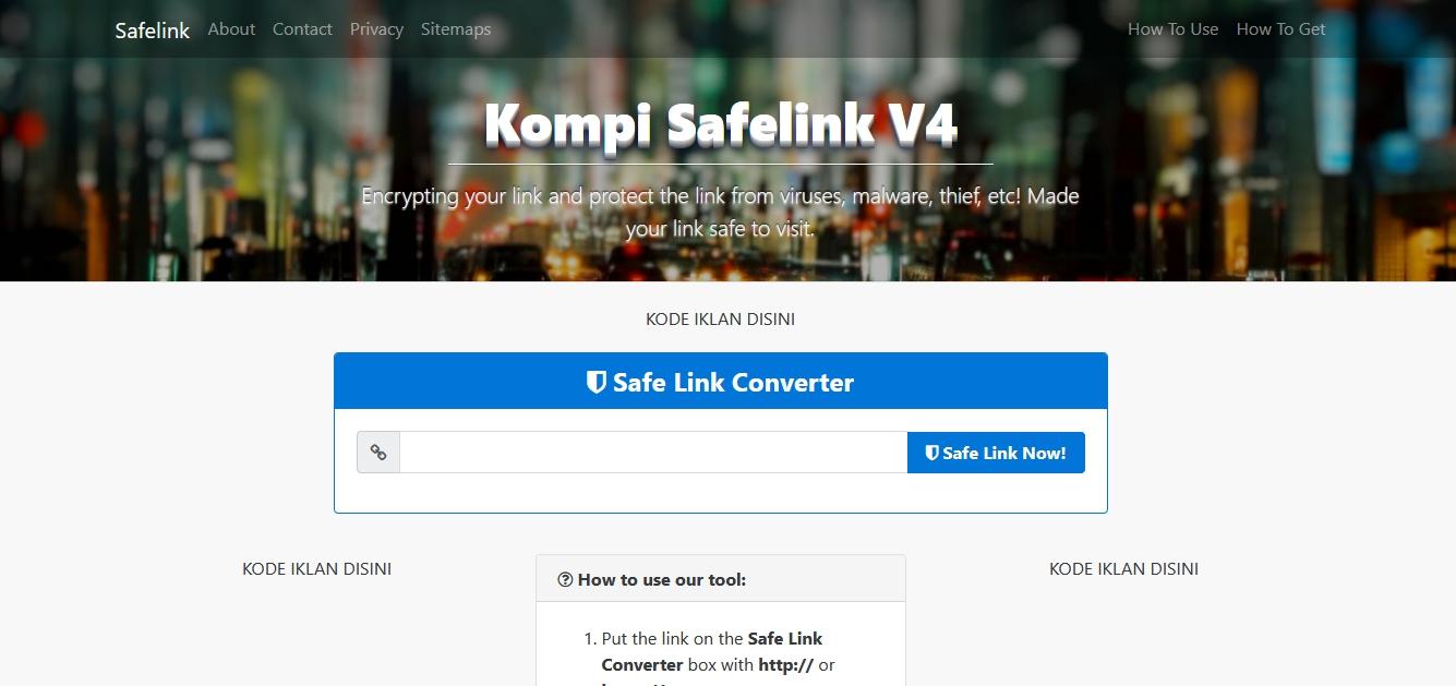 Safelink Kompi Ajaib V3 & V4 Blogger Template