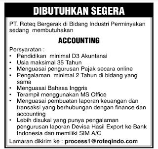 Lowongan Kerja PT. Roteq Batam (Juli 2020)