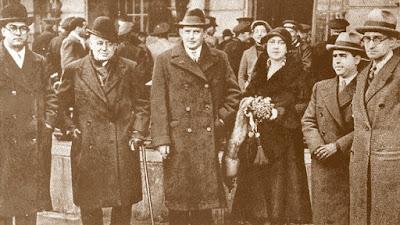 Alekhine llega a Barcelona, enero de 1935