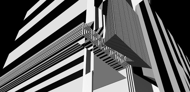 Graphis BW 2, by Jim Keaton ©Structured Art 2021, Gardner Keaton Inc.