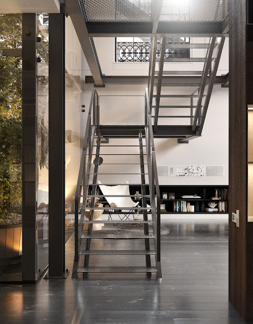 kerala home steel staircase models