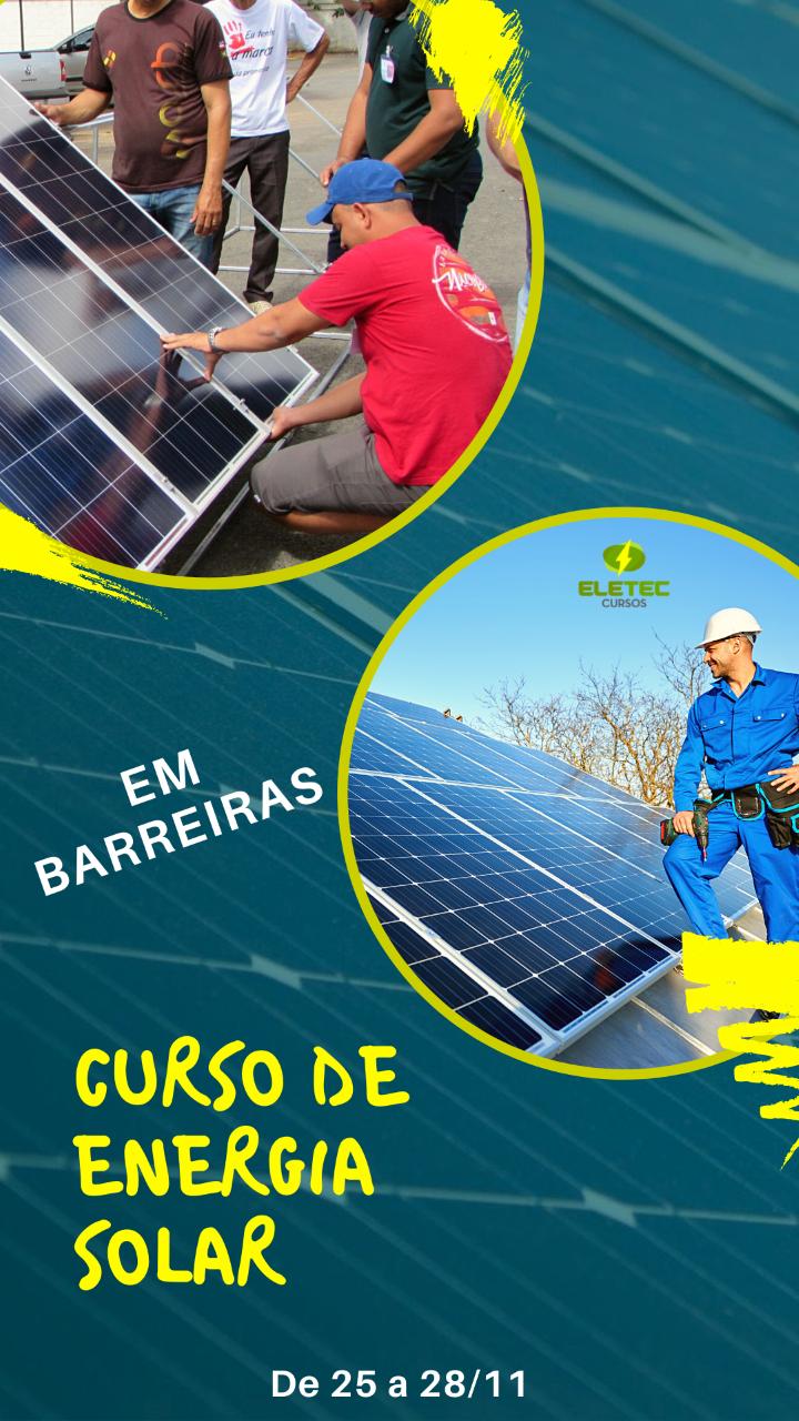 Curso de Energia Solar Acontecerá em Barreiras-BA