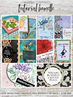 Check out my You Make the World Better Card for the June 2021 Creative Stampers  Blog Hop.  Click here for a sneak peek of my June project