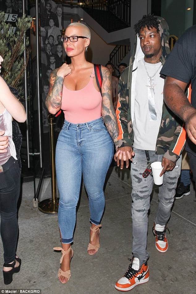 Amber Rose steps out hand-in-hand with 'new boo' 21 Savage