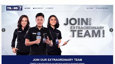 Lowongan Kerja Terbaru TRANS7 Menerima Kayawan Baru Tersedia 6 Posisi Penerimaan Seluruh Indonesia
