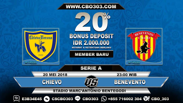 Prediksi Bola Chievo VS Benevento 20 Mei 2018