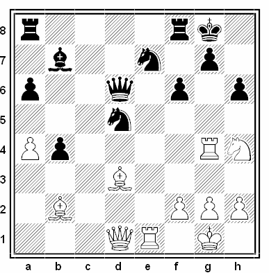 Posición de la partida de ajedrez Mats Lindgren - Gert Iskov (Gausdal, 1988)