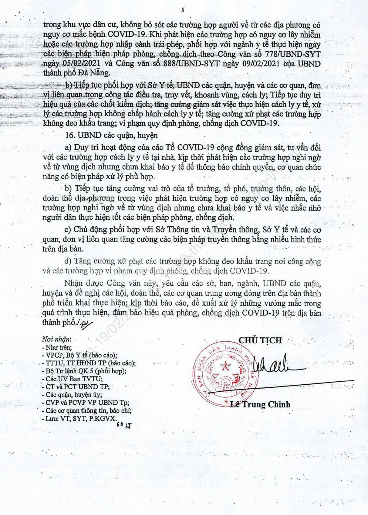 Thành phố Đà Nẵng tiếp tục tạm dừng, không tổ chức lễ hội, hoạt động, sự kiện tập trung đông người không cần thiết sau Tết Nguyên đán 2021